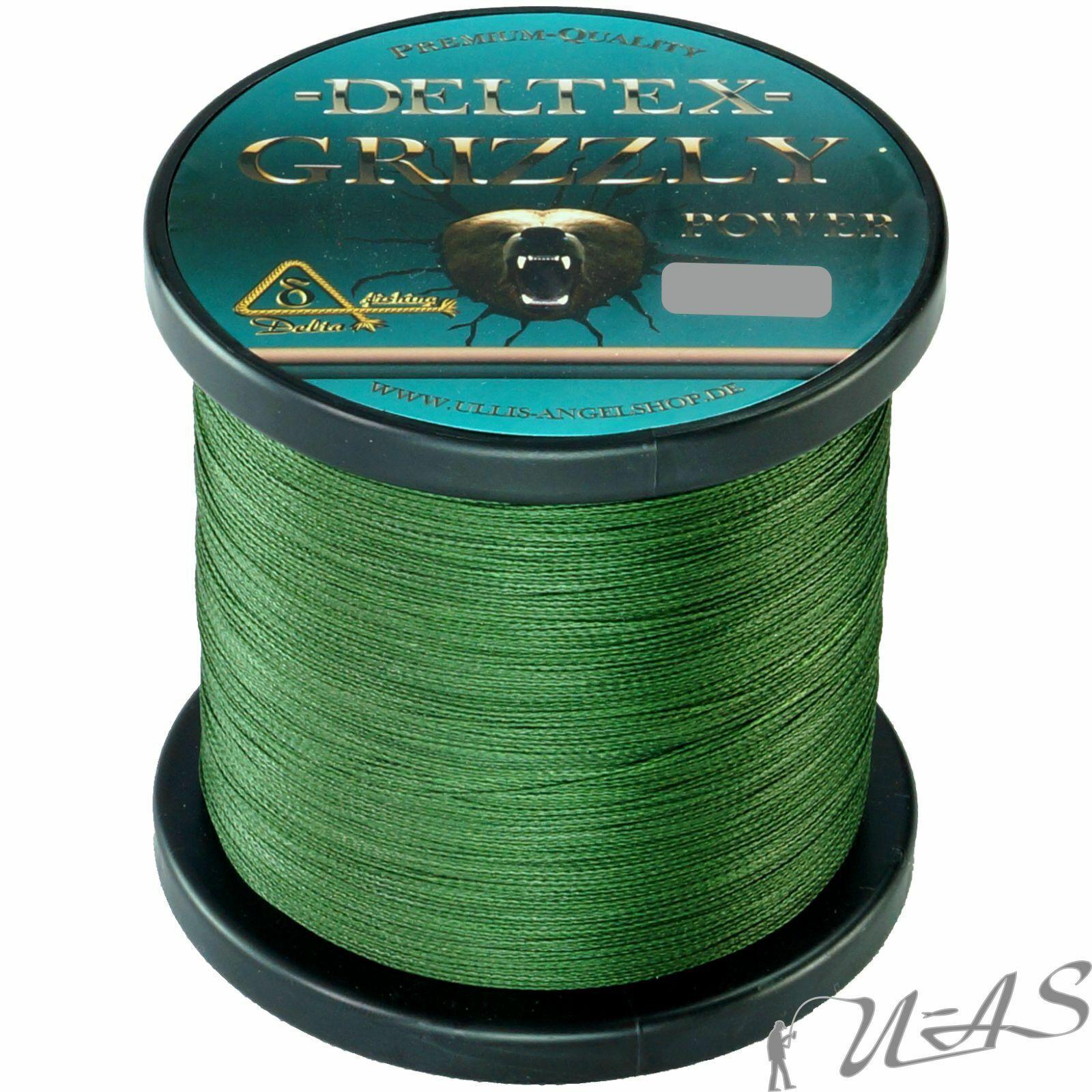 DELTEX GRIZZLY Grün 0.20mm 24,60kg 1000M PE JAPAN 4 fach Geflochtene Angelschnur