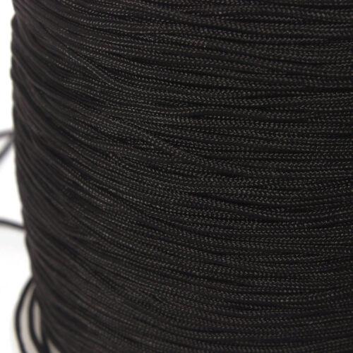 Nylonband Ø 1 mm schwarz zum Basteln von Shamball-Armbänder 3-10 Meter Neu