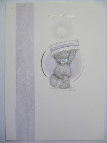 ME TO YOU TATTY TED COLOURFUL EMBOSSED BIRTHDAY CAKE BIRTHDAY GREETING CARD