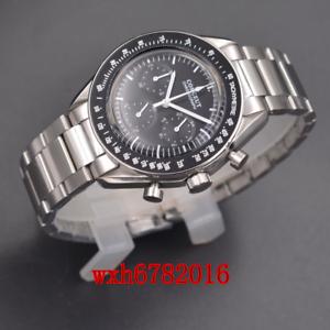 40mm-corgeut-Multifunktion-Quarz-Herrenuhr-Full-Chronograph-Stahl-Armband
