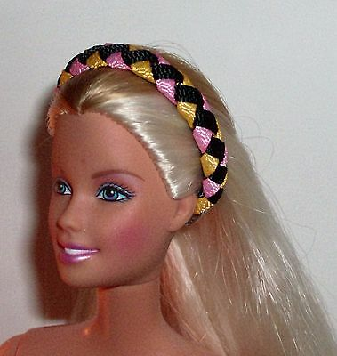 OOAK Doll/ Barbie/ Woven Ribbon Headband - Multi U Pick Color