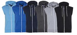 Boys Girls Kids Sleeveless Fleece Hooded Jacket Waistcoat Bodywarmer Gilet 7-13y