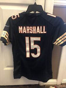 Details about CHICAGO BEARS #15 BRANDON MARSHALL NIKE ON FIELD SEWN JERSEY youth Medium