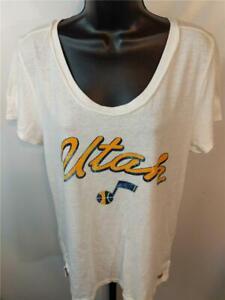 New Utah Jazz Womens Sizes M-L Scoop Neck Cozy Shirt