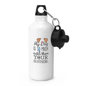 My-cani-IS-Cuter-Than-Your-ragazzo-Marrone-ORECCHIE-Sport-Drink-Bottiglia-acqua
