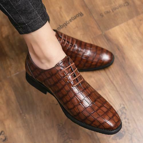 Details about  /38-48 Mens Low Top Faux Leather Business Shoes Pointy Toe Work Office Lace up L