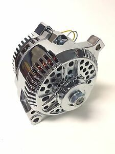 Details about New 3g Chrome 200 Amp Alternator 1 One Wire Fits Ford 65-85  Large Case