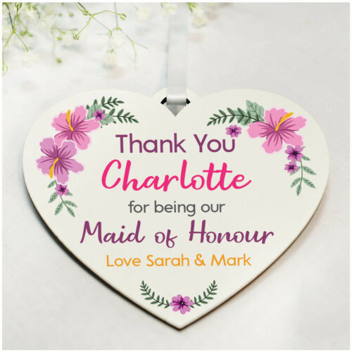 Wedding Flower Girl Plaque Keepsakes PERSONALISED Bridesmaid Thank You Gifts