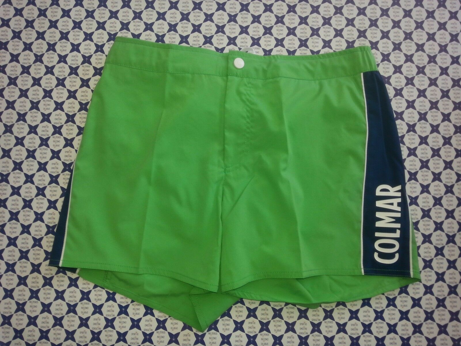 Costume Boxer COLMAR green blue Fasce Lato con Bottoni Mare Piscina 72241QF 885