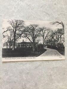 Postcard-1908-Royal-Jubilee-Hospital-Victoria-B-C-Canada-Posted-Vintage-P41