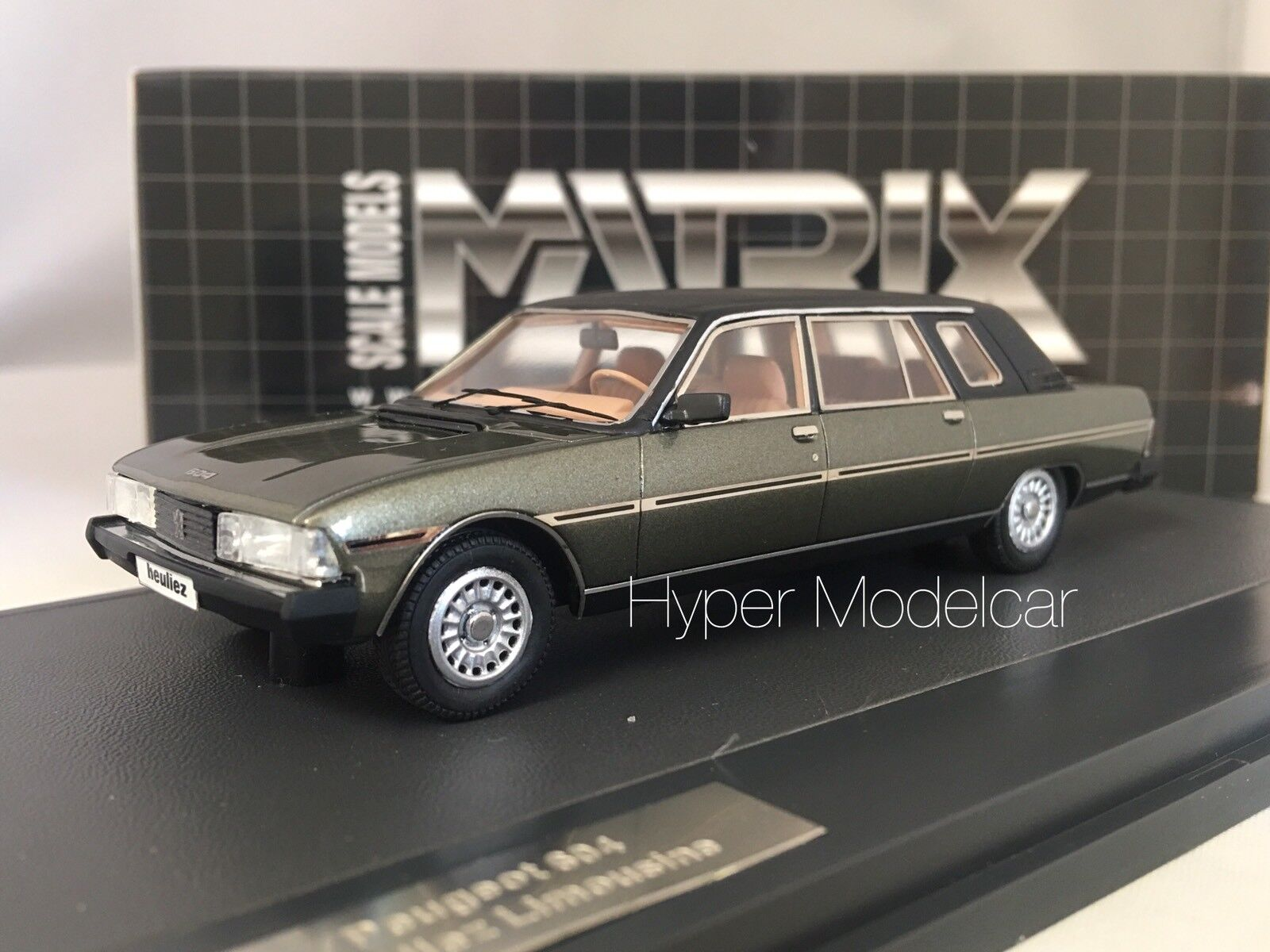 MATRIX SCALE MODELS 1 43 Peugeot 604 Heuliez Limousine 1980 vert MX41604-011