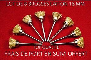 SéRieux Lot De 8 Brosses A Decaper 16 Mm Fil Laiton Pour Dremel Proxxon .. CaractéRistiques Exceptionnelles