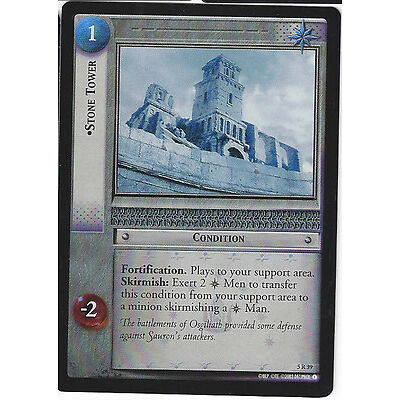 CCG Lord of the Ring / Hobbit Stone Tower Foil Englisch