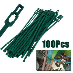 100pcs-set-Reusable-Garden-Plastic-Plant-Cable-Ties-Tree-Climbing-Support