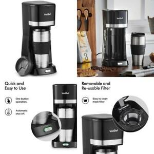Vonshef One Cup Personal Coffee Maker Single Serve Black For Sale