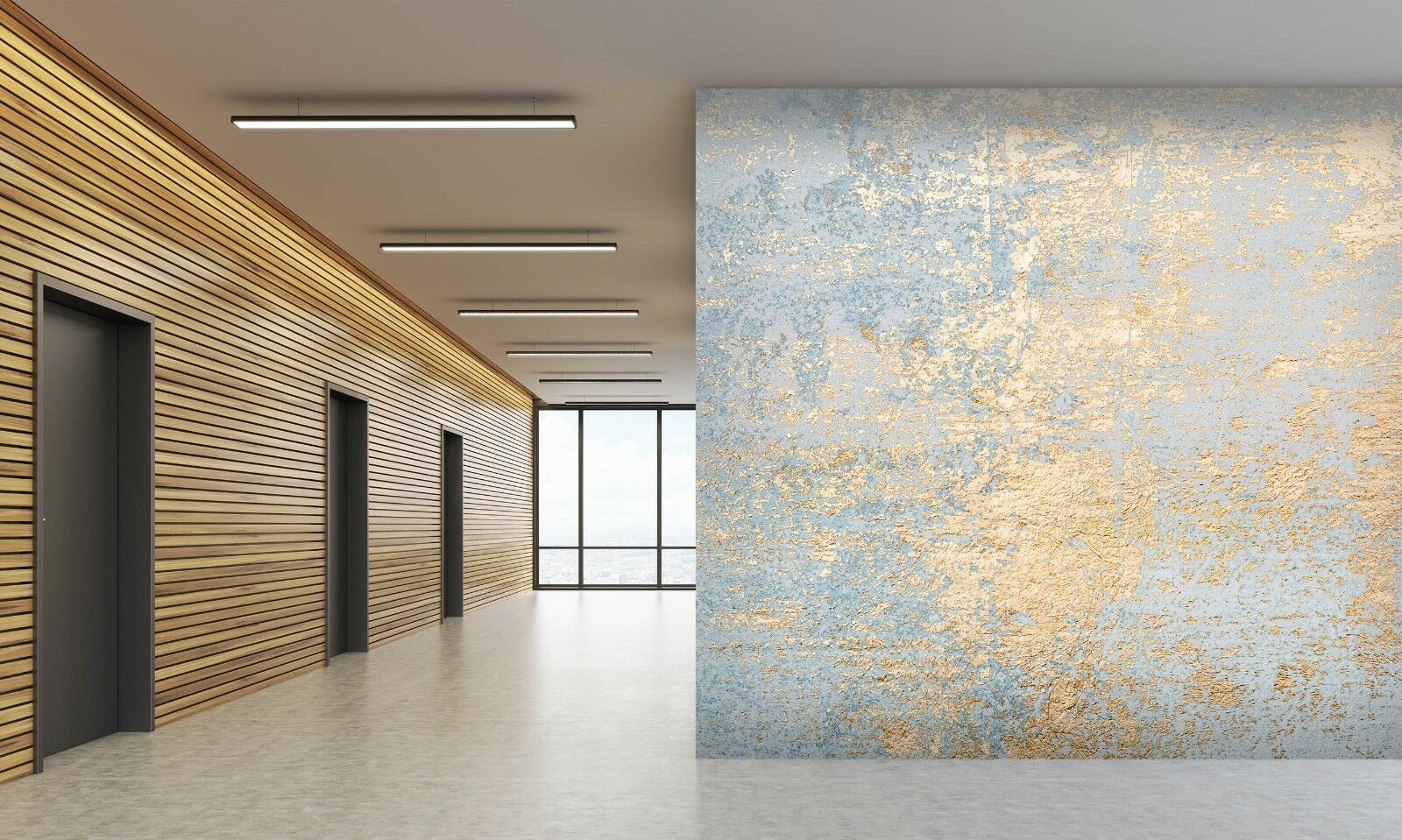 3D Abstract Gold 511 Texture Tiles Marble Wall Paper Decal Wallpaper Mural