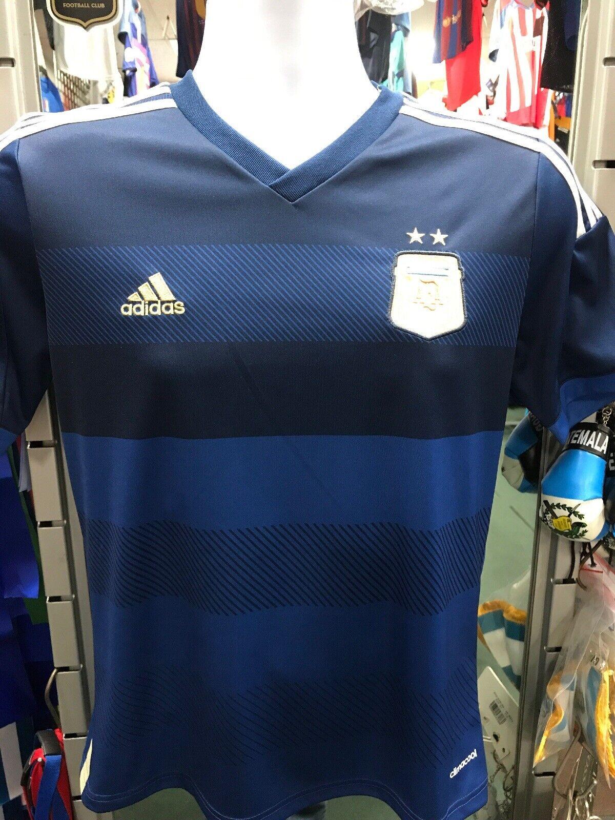 adidas Argentina Away Navy Blue 2014 Soccer Jersey Size YL ...