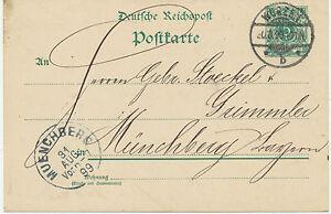 DT-REICH-WURZEN-K2-5-Pf-Kab-GA-Postkarte-n-MUENCHBERG-MUNCHBERG-Bayern