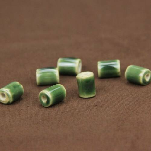 HOT 10pcs 10X14mm Cylindrical Ceramic Loose Spacer Beads DIY Jewelry Findings