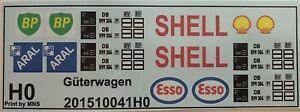Aral Shell Esso Wagons Camion Station-service Décalques 1:87 Ou H0-afficher Le Titre D'origine