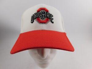 Details About Nike Ohio State University Osu White Scarlet Baseball Hat Cap Adjustable