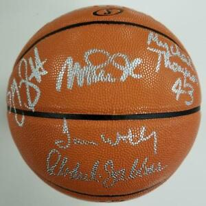 fa6d560f Image is loading SHOWTIME-LAKERS-Team-Signed-Basketball-Jabbar-Magic-Worthy-