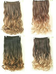 20 22 ombre full head clip in hair extensions one piece dip dye image is loading 20 034 22 034 ombre full head clip pmusecretfo Gallery