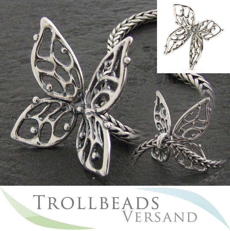 TROLLBEADS silver Ketten Anhänger Großer Schmetterling - TAGPE-00005