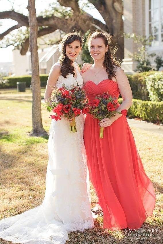 Bill LevKoff Bridesmaid Dress 82955 in Poppy