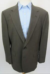 BROOKS-BROTHERS-346-Stretch-Wool-Blazer-Sport-Coat-42R-Brown-Mini-Check