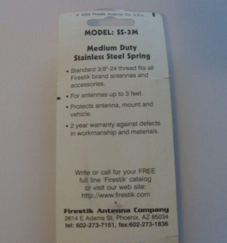 Firestik SS-3M Medium Duty Stainless Steel Spring for CB Antenna Mount USA made