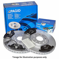 GENUINE PAGID FRONT AXLE BRAKE KIT BRAKE DISCS 54470 Ø 254 mm BRAKE PADS T1335