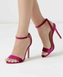 LIPSY BNWT Womens Pink Velvet Barely