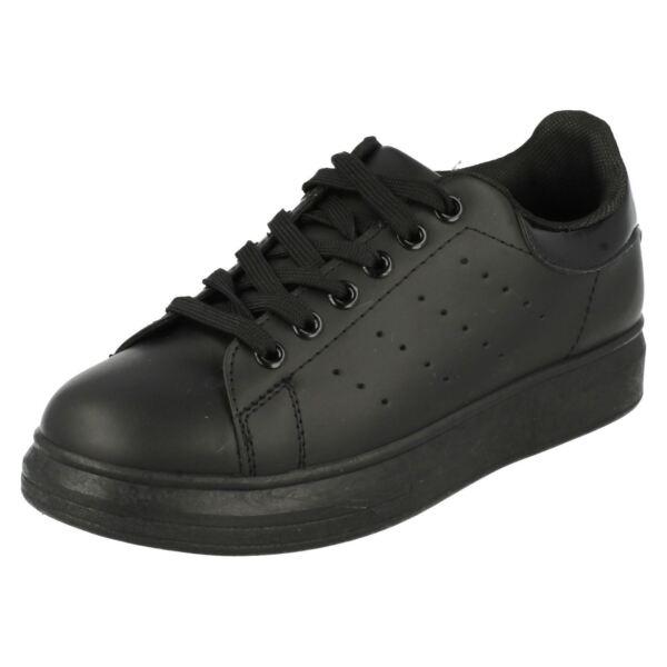 100% Vero Svendita Donna Spot On Lacci Casual Scarpa/scarpe Da Ginnastica F8r0194 Bianco Puro E Traslucido