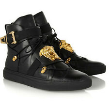 LUXE KICKS Versace £900 Leather Medusa Hi-Top Trainers Sneakers New IT35.5UK2.5