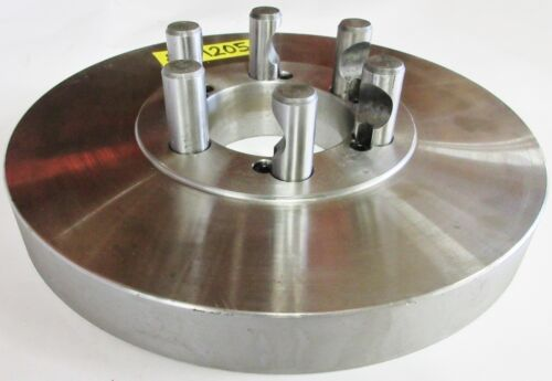 """10"""" Chuck Adapter Plate D1-5 Spindle Mount 1-1//4"""" Thickness"""