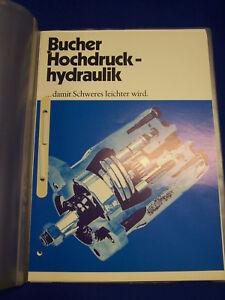 Original-Datenblaetter-und-Ersatzteillisten-Bucher-Hochdruck-Hydraulik-Raritaet