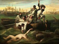John Singleton Copley Watson Shark Antiguo Arte Pintura Cuadro Cartel 1653omlv