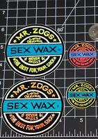 4 Sexwax Sex Wax Stickers Surfing Surf Decal Vinyl 3 & 1 Og Surfboard Art