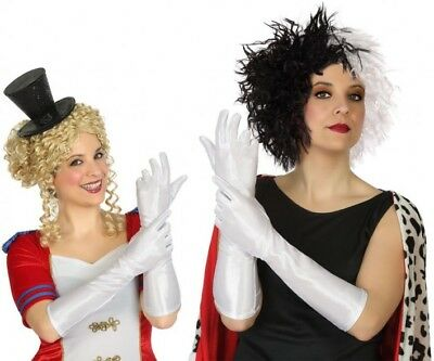 Frank Handschuhe Lang Weiß Kostüm Frau Charleston Ehe Marquise Neu Billig