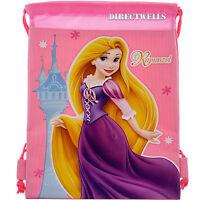 Disney Princess Rapunzel Tangled Licensed Pink Drawstring Bag School Backpack