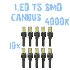 N° 10 Gloeilampen LED T5 Wit 4000K SMD 5630 Koplampen Angel Eyes DEPO FK 12v 1B5