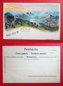 22295 Feines Handwerk Litho Ak Schweiz Um 1900 Rigi Kulm Sonnenaufgang Sonstige Sammeln & Seltenes