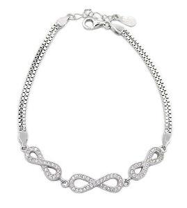 Das Bild wird geladen Damen-Armband-Infinity-925-Sterling-Silber-70-Zirkonia - 99490a4e0a