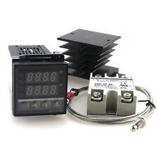 Pid Temperature Controller Ac110v 220v Rex C100 Heat Sinkssr 40da2m K Probe