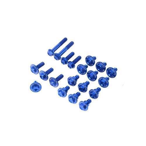 Blue Aluminum Body Bolt Kit for 2006-16 KX250F 12-15 KX450F ZE88-5246 Zeta