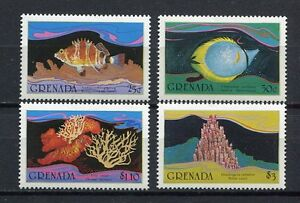 25445) Grenada 1985 MNH New Fishes Fish 4v
