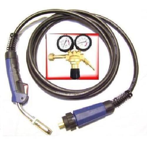 Gas Druckminderer Gasdruckminderer MIG MAG Brenner MB25 Schweißbrenner 4 m
