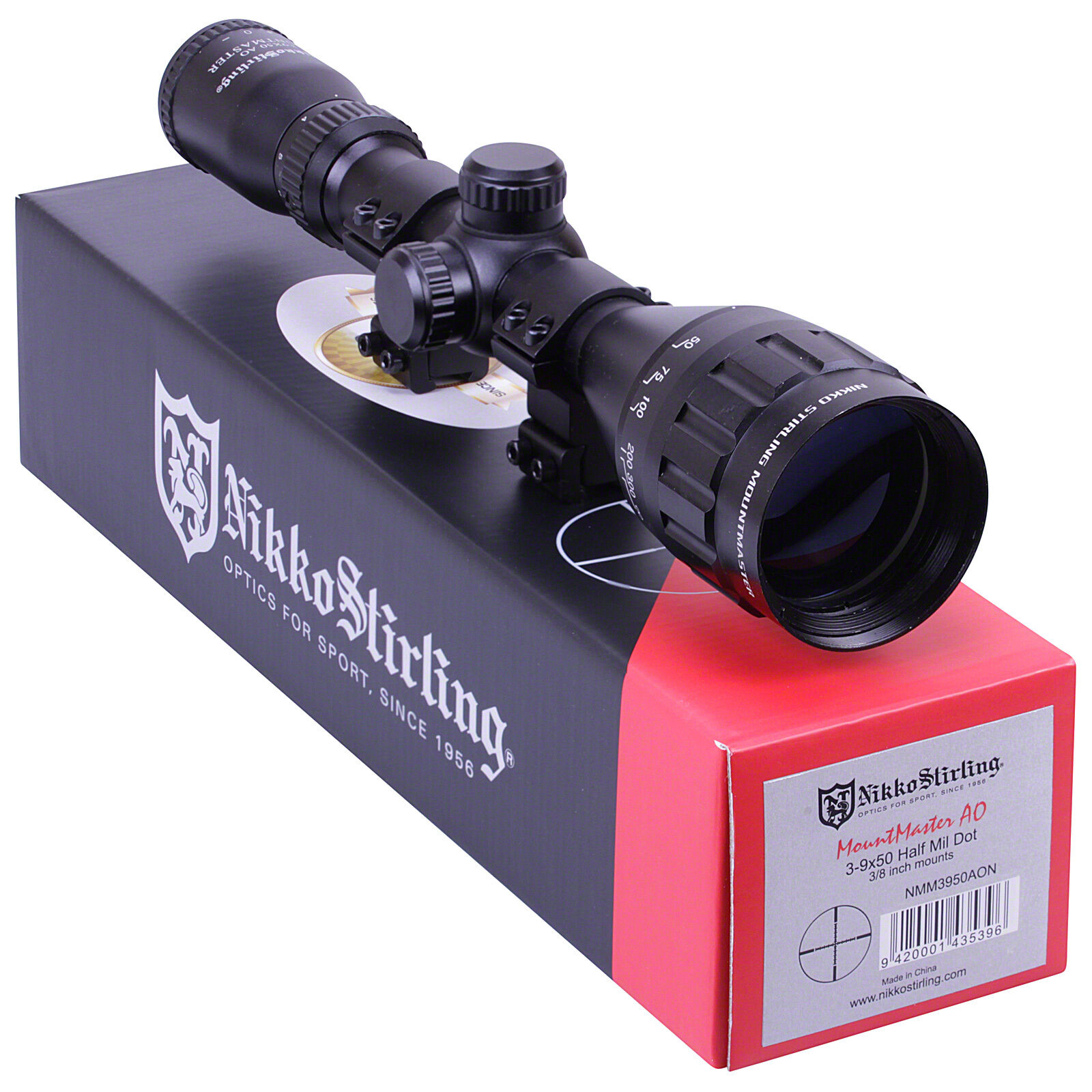 Nikko MOUNTMASTER 3-9x50 PX Parallax AO Rifle SCOPE Sight with 3 8 11mm MOUNTS