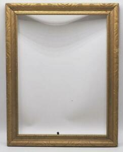 "Vintage 14-1/2""x18-1/2"" Painted Gold Wood Ornate Picture Frame"